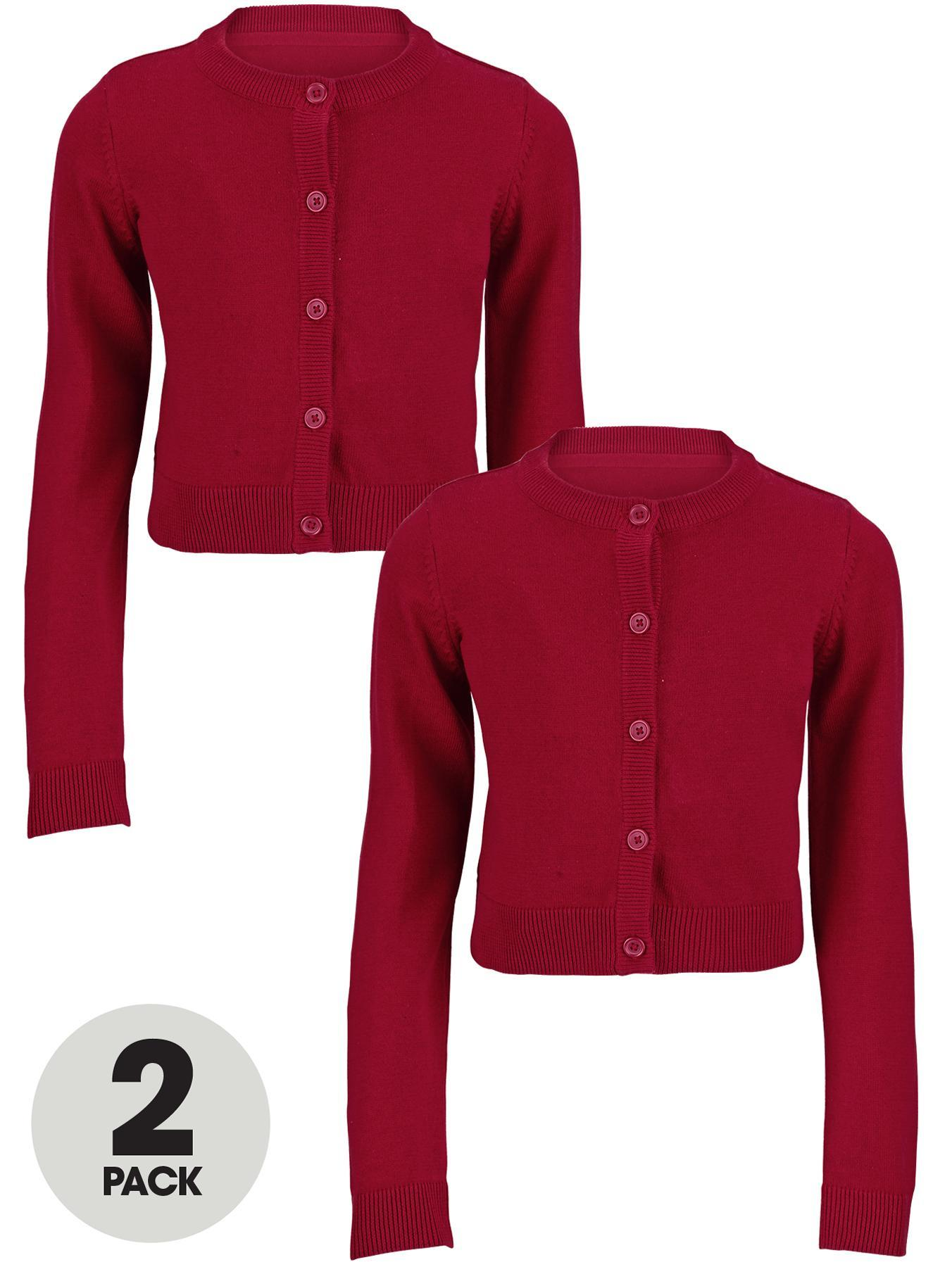 Essential Cotton Cardigan (2 Pack), Black,Grey,Navy,Red,Green at Littlewoods