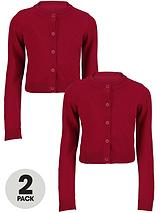 Essential Waist Length Cotton Cardigan (2 Pack)