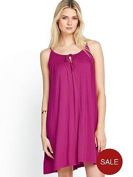 south-shirred-neck-a-line-dress