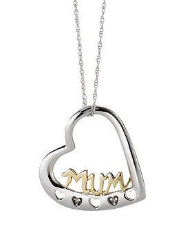 keepsafe-9-carat-2-colour-diamond-set-mum-pendant