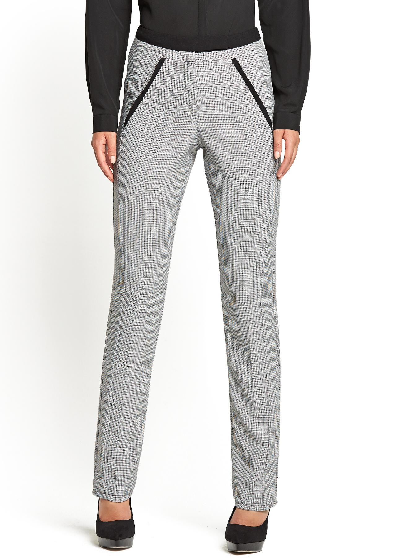 Textured Skinny Trousers, Grey,Black