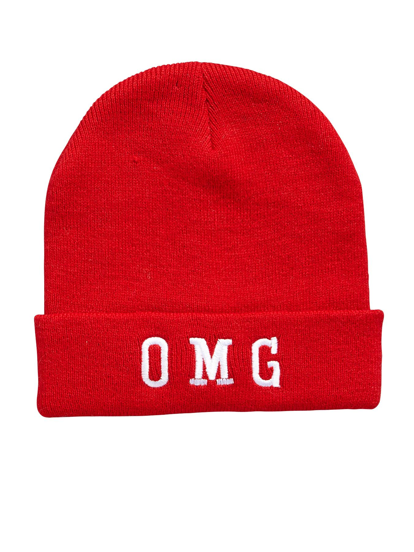OMG Beanie, Red at Littlewoods