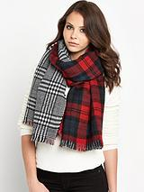 Double Sided Two Print Heavyweight Scarf