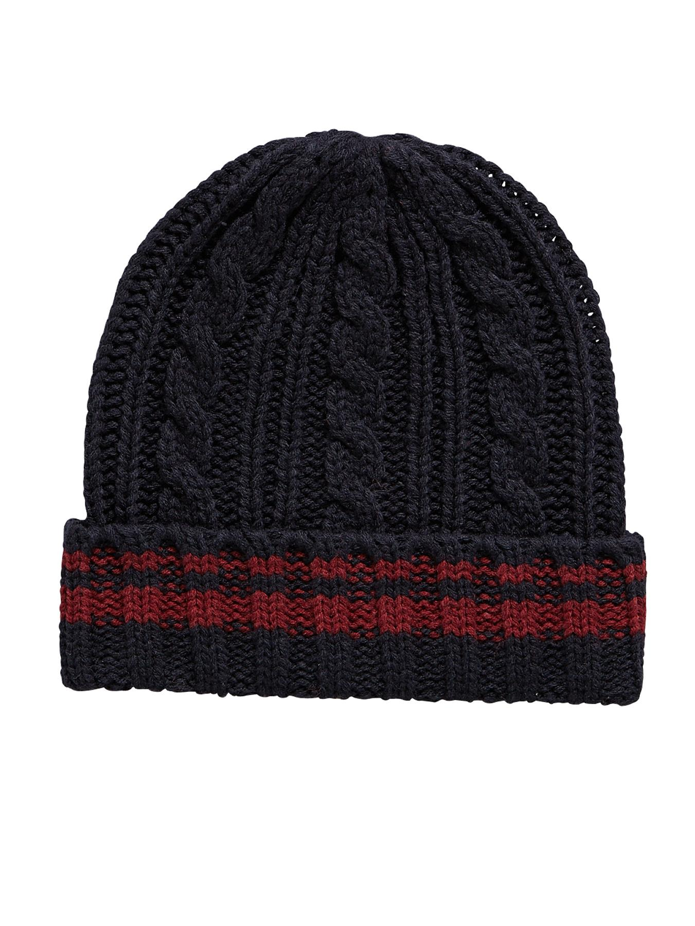 Mens Basic Beanie, Grey at Littlewoods