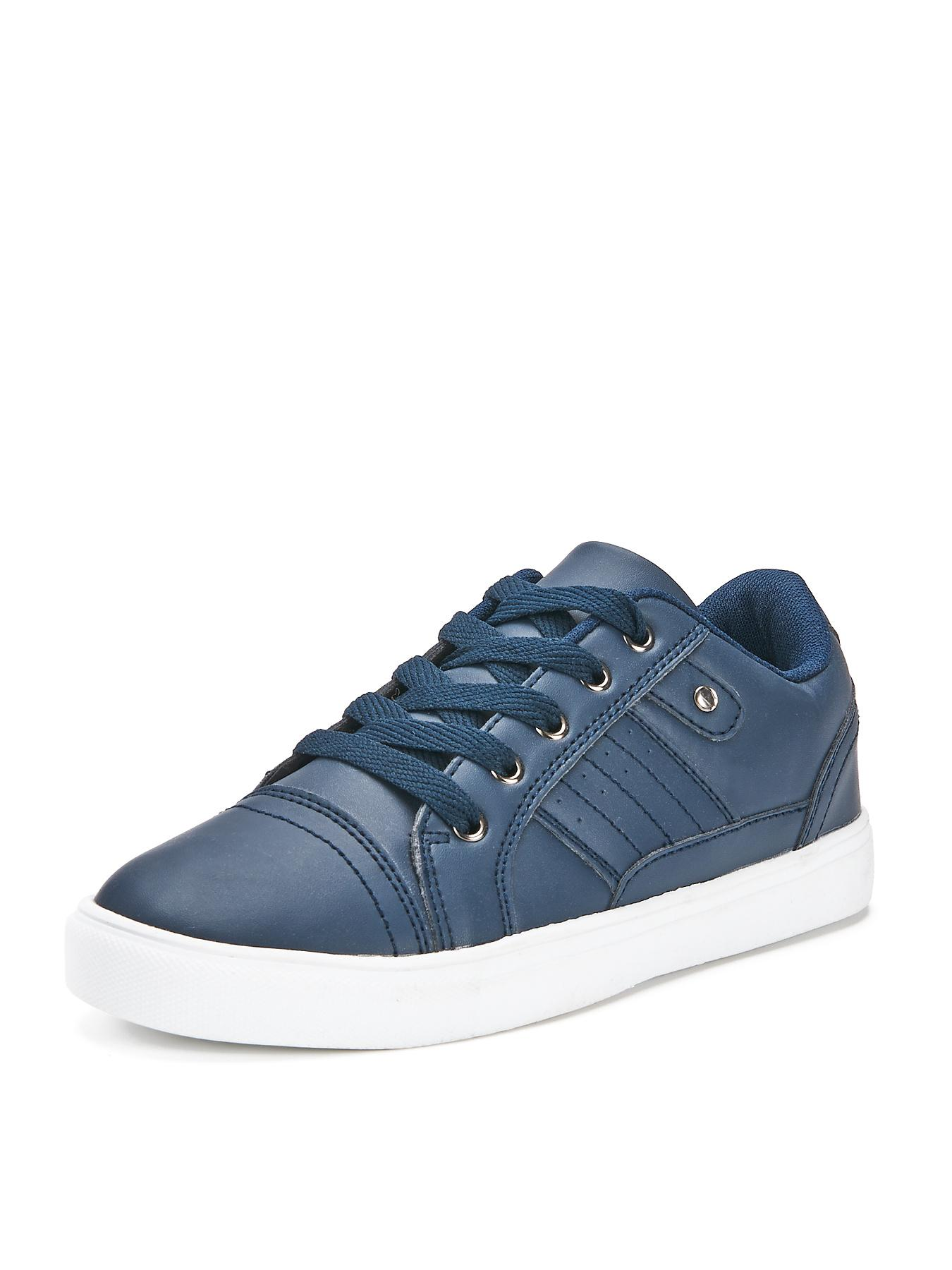 Marc Boys Court Trainers, White,Navy