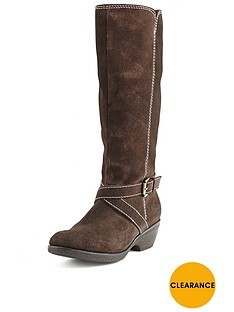 foot-cushion-contrast-stitch-casual-suede-boots