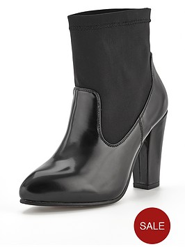 shoe-box-neoprene-sock-ankle-boots-black