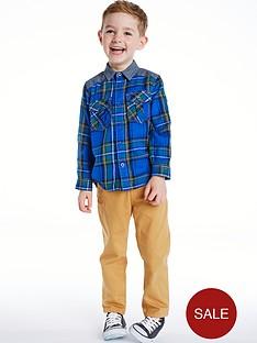 ladybird-boys-check-shirt-2-piece-set-fr