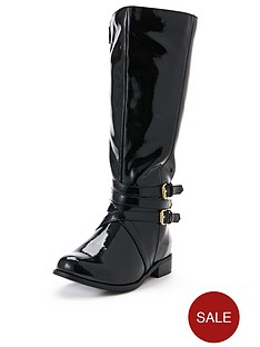 so-fabulous-adelaide-buckle-detail-patent-extra-wide-fit-riding-boots