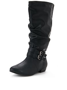 bobbie-back-elastic-flat-boot-extra-wide
