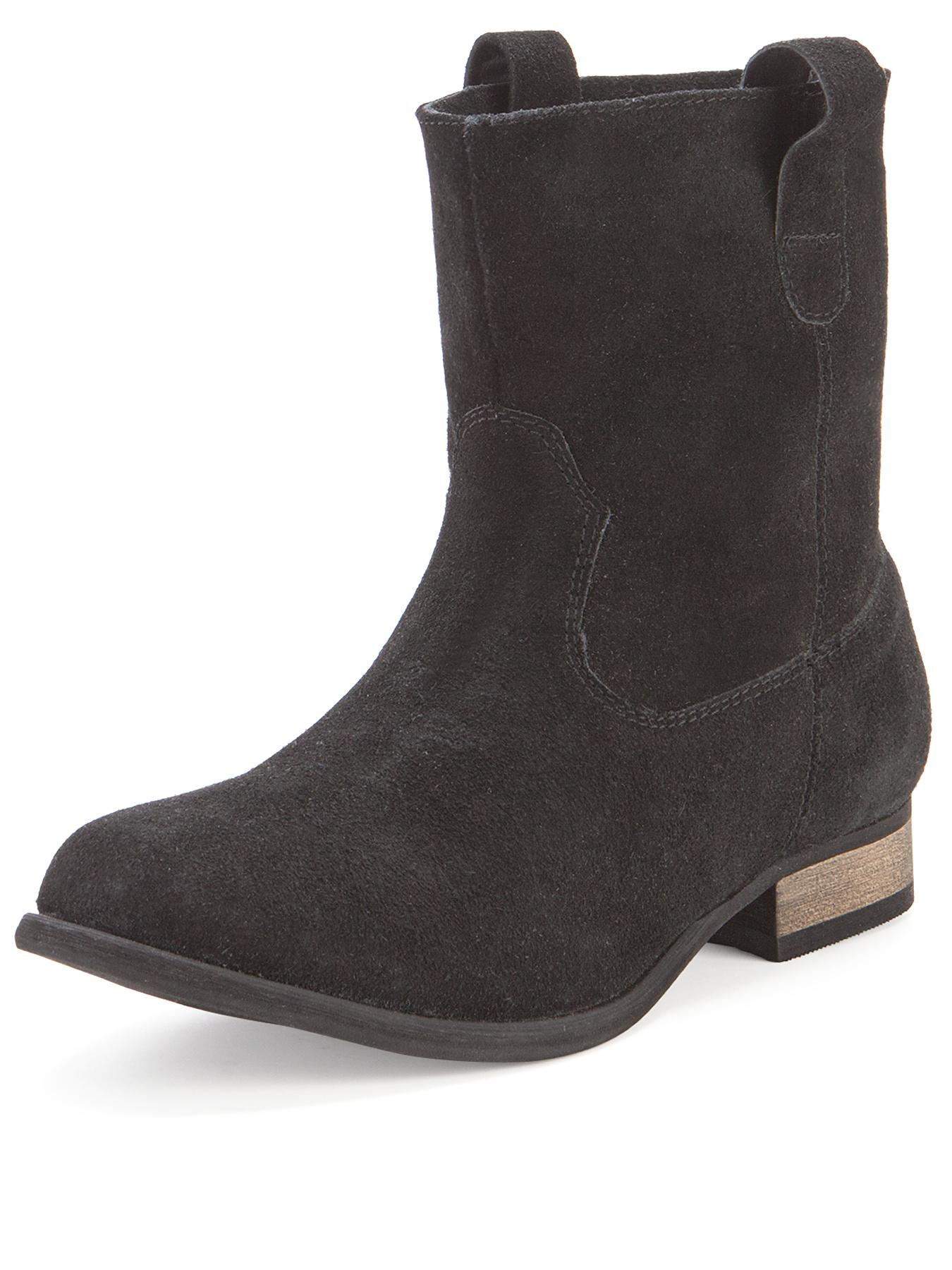 Beatrice Suede Slouch Ankle Boots  Black Black
