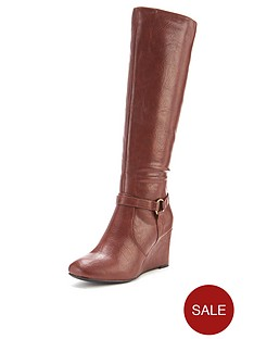shoe-box-alberta-strappy-detail-wedge-calf-boots-brown