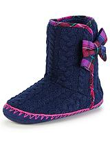 SOPHIA BOOT WITH MULTI CHECK BOW