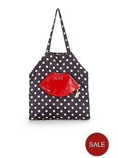 lulu-guinness-polka-foldaway-shopper