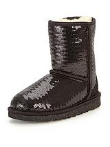 Girls Classic Short Sparkles Boots