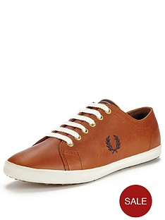 fred-perry-kingston-lux-leather-plimsolls