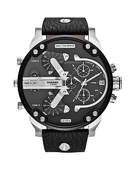 diesel-mr-daddy-black-and-stainless-steel-dial-with-black-leather-strap-mens-watch