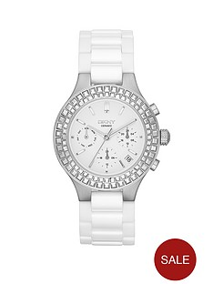 dkny-chambers-chronograph-stainless-steel-and-white-ceramic-bracelet-ladies-watch-38mm