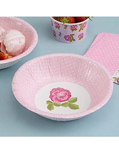 vintage-rose-paper-party-bowls