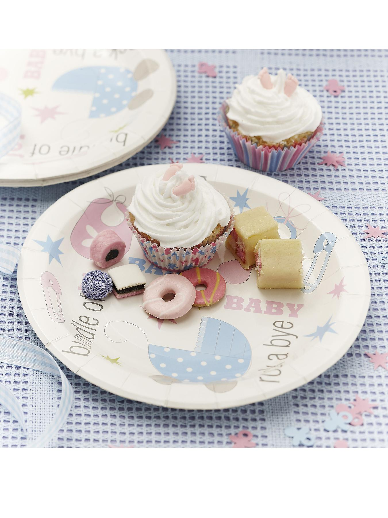 Tiny Feet Baby Shower Plates at Littlewoods