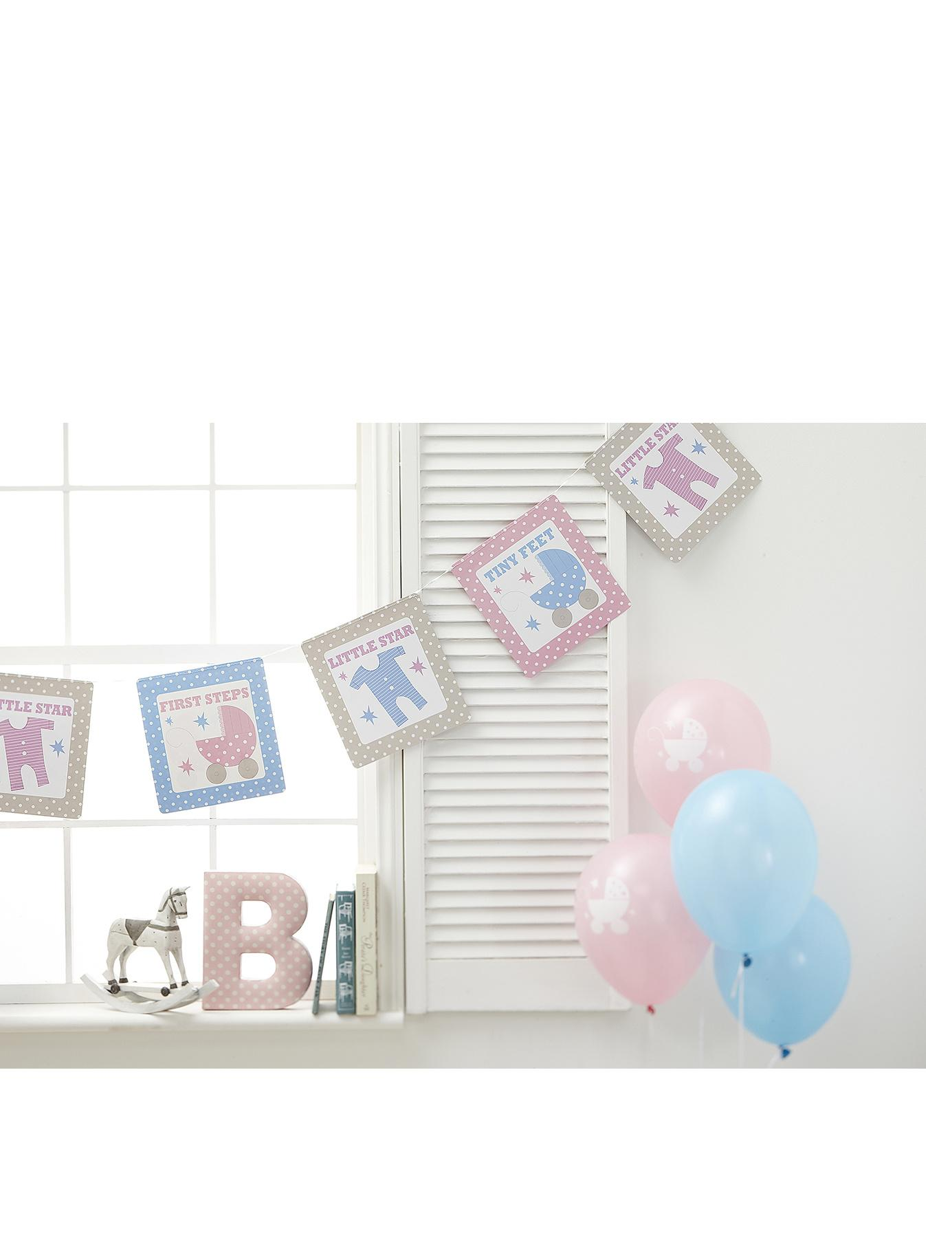 Tiny Feet Baby Shower Bunting at Littlewoods