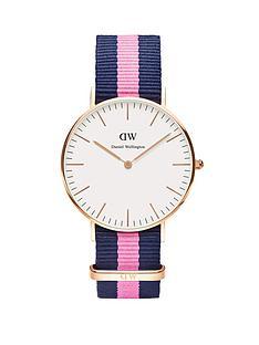 daniel-wellington-rose-gold-tone-coloured-strap-ladies-watch