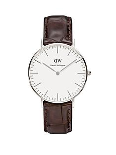 daniel-wellington-silver-tone-case-leather-strap-unisex-watch