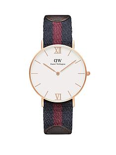 daniel-wellington-rose-gold-tone-coloured-strap-and-brown-leather-unisex-watch