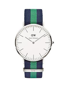 daniel-wellington-silver-tone-40-mm-case-coloured-strap-mens-watch