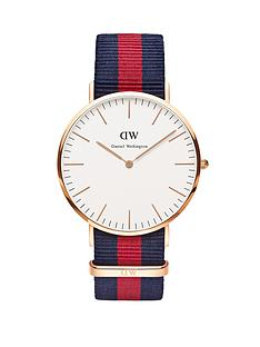 daniel-wellington-rose-gold-tone-coloured-strap-mens-watch