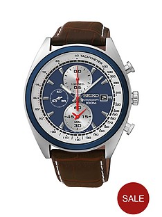 seiko-chronograph-blue-dial-brown-leather-strap-mens-watch