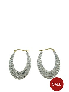 gold-plated-over-sterling-silver-crystal-creole-oval-earrings