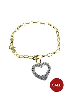 love-silver-gold-plated-over-sterling-silver-crystal-set-heart-drop-bracelet