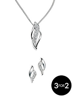 elements-sterling-silver-double-marquise-cubic-zirconia-earring-and-pendant-set