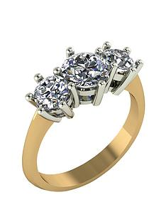 moissanite-9-carat-gold-2-carat-trilogy-ring