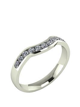 moissanite-9-carat-gold-33pt-channel-set-shaped-wedding-ring
