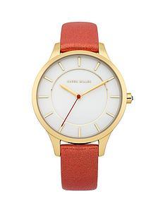 karen-millen-white-dial-red-leather-strap-ladies-watch