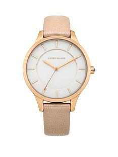 karen-millen-white-dial-cream-leather-strap-ladies-watch