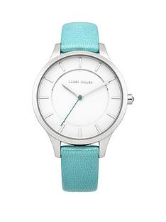 karen-millen-white-dial-aqua-leather-strap-ladies-watch
