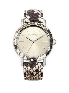 karen-millen-silver-tone-dial-snake-effect-leather-strap-ladies-watch