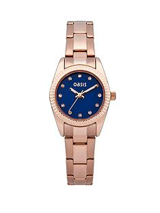 oasis-blue-dial-and-rose-gold-tone-ladies-watch