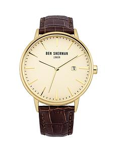 ben-sherman-cream-dial-brown-croc-leather-strap-mens-watch