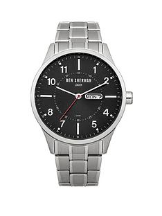 ben-sherman-black-dial-stainless-steel-bracelet-mens-watch