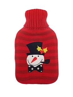 mr-snowman-hot-water-bottle-red