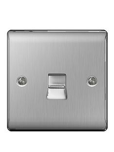 british-general-brushed-steel-1-gang-telephone-socket-master-screw-type