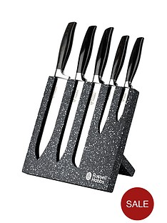 russell-hobbs-granite-5-piece-knife-block-set