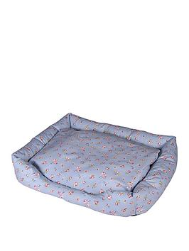 floral-print-pet-bed