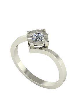 moissanite-9-carat-white-gold-25-point-solitaire-ring