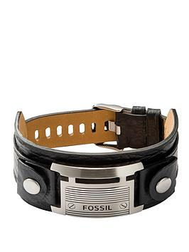 fossil-casual-leather-cuff-mens-bracelet