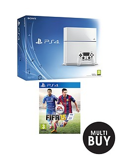 playstation-4-white-console-with-fifa-15-with-optional-white-headset-and-optional-12-months-playstation-plus